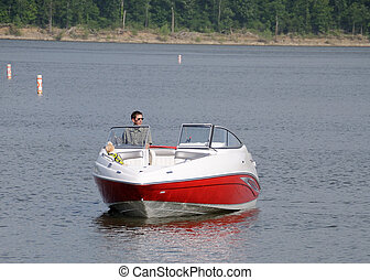 Boating In Kentucky - Boating on Taylorsville Lake in...