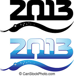 new year of snake 2013 design vector illustration