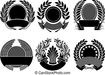 coat of arms set vector