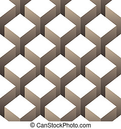 cubes stack seamless pattern vector illustration
