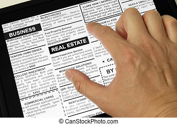Real estate - Fake Classified Ad, newspaper and Touch...