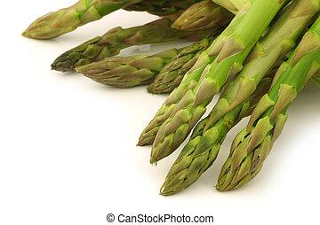 fresh green asparagus shoots