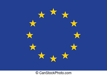 Flag of European Union vector illustration