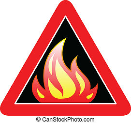 fire sign vector illustration