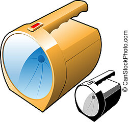 flashlight vector illustration