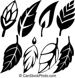 leaf design set vector illustration