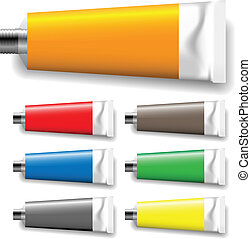 paint tubes vector illustration