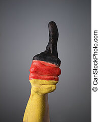 Hand painted with the flag of Germany 2 - Hand painted with...