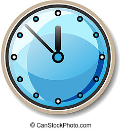 vector blue clock illustration