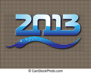 happy new 2013 year of snake vector background