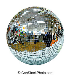 Disco ball - Big disco ball symbol of seventies isolated