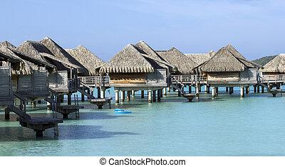bora bora bungalows - over water bungalows on the bora bora...