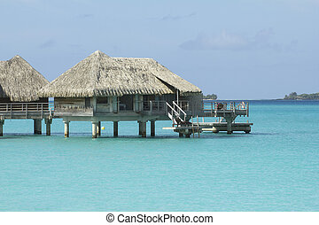 bora bora bungalows - over water bungalows on the bora bora...