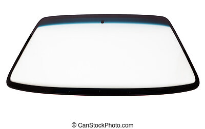New car windshield isolated on white background