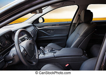 New modern car interior - New modern sport car interior