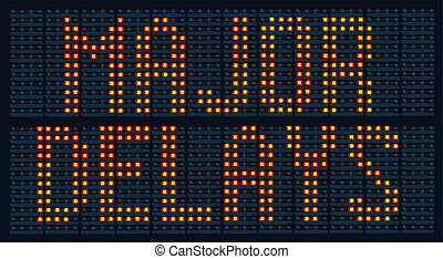 Major Delays Sign - Urban traffic congestion sign saying...