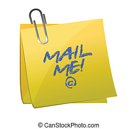 mail me post it illustration design over white