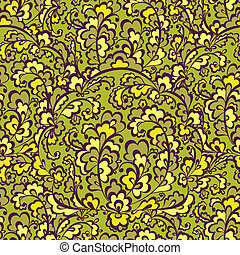 Elegant green vegetative seamless pattern. Vector...