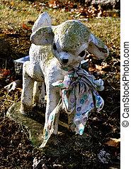 Gravesite - Lamb Statue