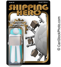 Shipping Hero Action Figure Shipper Delivery Man
