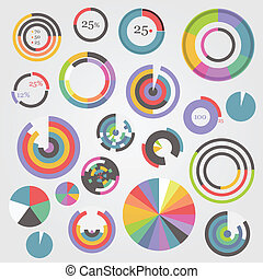 Circle chart templates collection