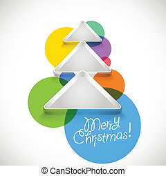 Abstract Christmas tree of color baubles
