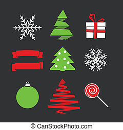 Abstract Christmas silhouettes