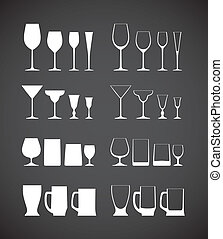 Glass silhouettes collection