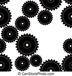 gears repeat - Repeating industrial design that makes a...