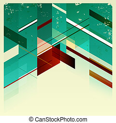 Abstract Retro Geometric Background - Vector Illustration...
