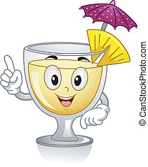 Pia Colada Mascot - Mascot Illustration Featuring a Pia...