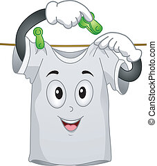 T-shirt Mascot - Mascot Illustration Featuring a T-shirt...