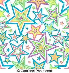 Distressed Stars Background Vector - Illustration of bright...