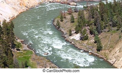 Yellowstone National Park Rapids - Rapids of the Yellowstone...