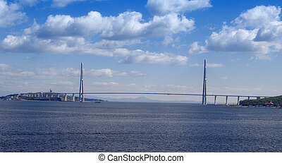 bridge to Russian Island, - almost finished bridge to...