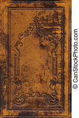 old and dirty ornamental book cover