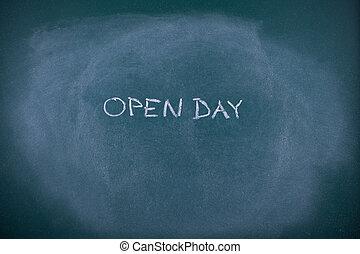 escola, abertos, Dia