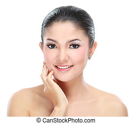 Beautiful asian woman face