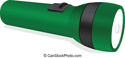 a torch - illustration of a torch on a white background