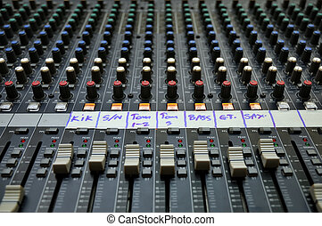 Sound mixer - Part of an audio sound mixer