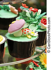 Cup Cake - Colorful Cup Cake Sweet snacks