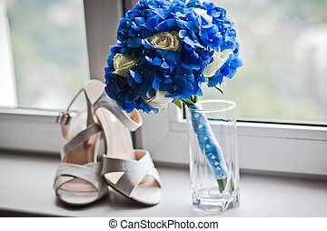 wedding bouquet - close up of wedding bouquet