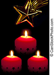 candles with star of Bethlehem