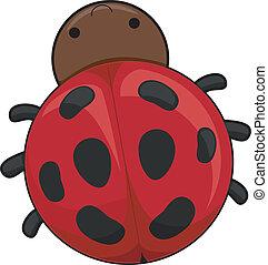 Ladybug - Illustration of a Cute Ladybug
