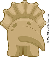 Triceratops Back View - Illustration Featuring the Back View...