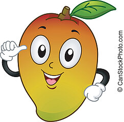 Mango Mascot - Mascot Illustration Featuring a Mango...