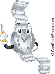 Wristwatch Mascot - Mascot Illustration Featuring a...
