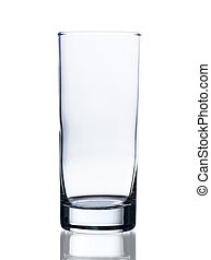 Empty glass isolated on white background
