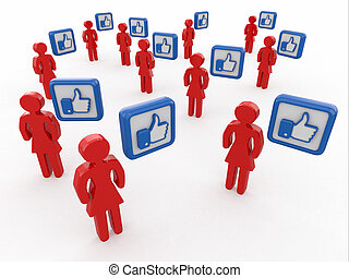 Concept of social network.