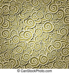 seamless pattern yellow curles - yellow curles ornatment....